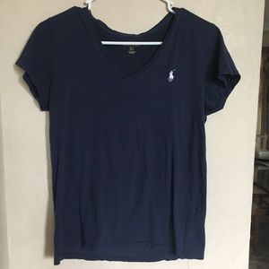 Blue Polo V-neck, size L, great condition